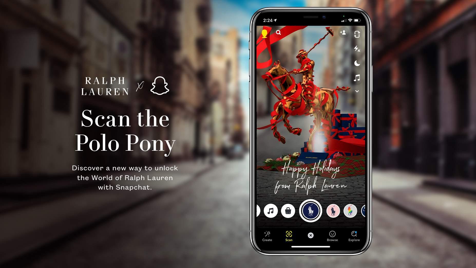 Snapchat, RalpAh Lauren e la realtà aumentata